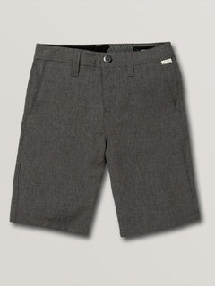 Big Boys Frickin Surf N' Turf Static Hybrid Shorts In Charcoal Heather, Front View