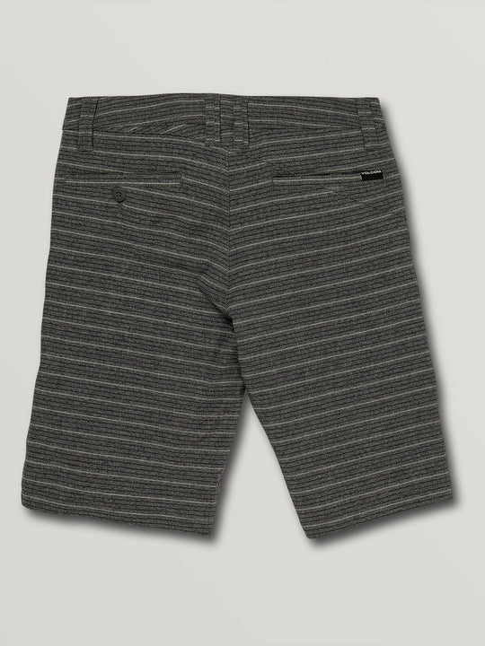 Big Boys Frickin Surf N' Turf Mix Hybrid Shorts In Charcoal Heather, Back View