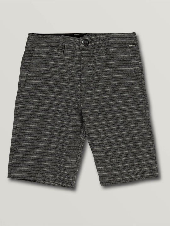 Big Boys Frickin Surf N' Turf Mix Hybrid Shorts In Charcoal Heather, Front View