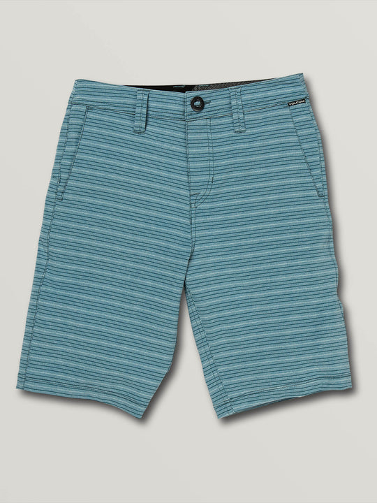 Big Boys Frickin Surf N' Turf Mix Hybrid Shorts In Vintage Blue, Front View