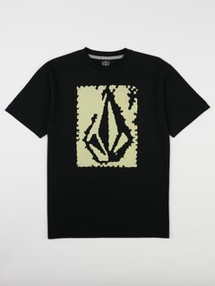 Big Boys Pixel Stone Tee In Black, Front View