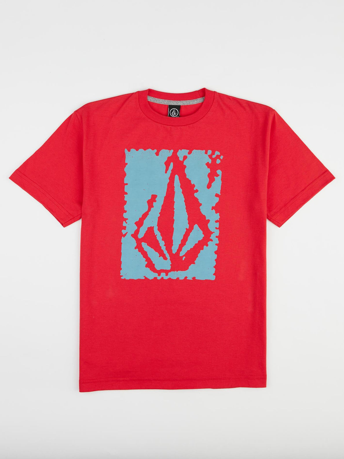 Big Boys Pixel Stone Tee In True Red, Front View