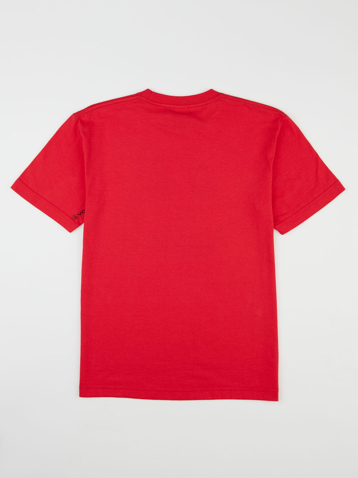 Big Boys Chill Face Tee In True Red, Back View