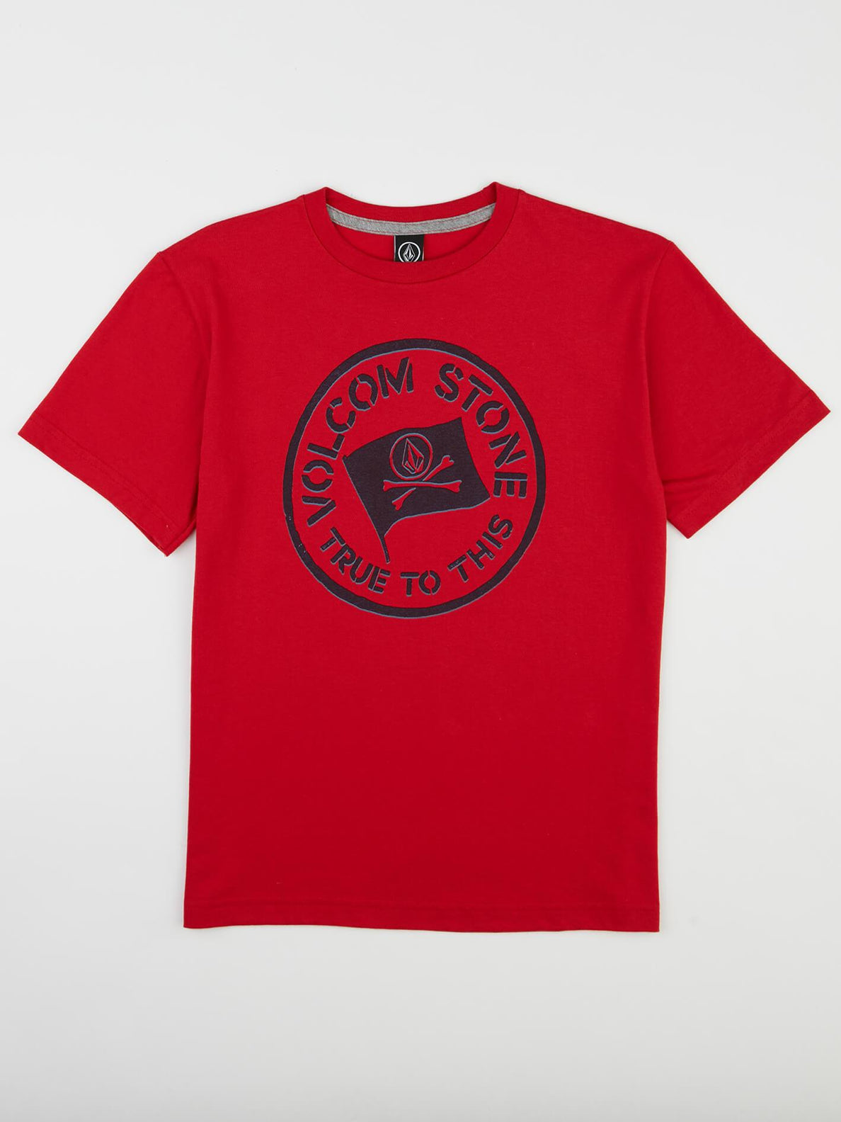 Big Boys Jolly Rebel Tee In True Red, Front View