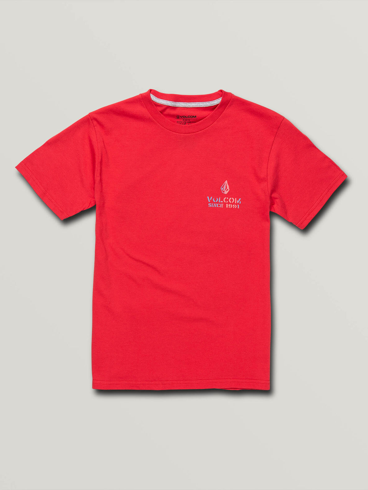 Big Boys Peace Is Progress Short Sleeve Tee In True Red, Front View