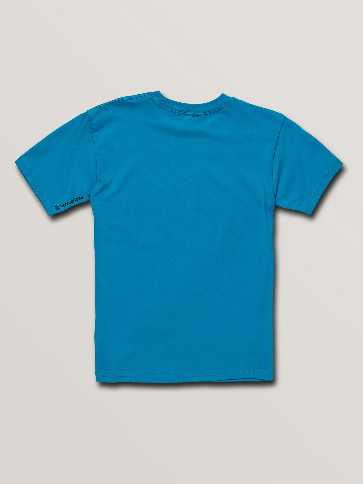 Big Boys Volcom Panic Short Sleeve Tee In Bright Blue, Back View