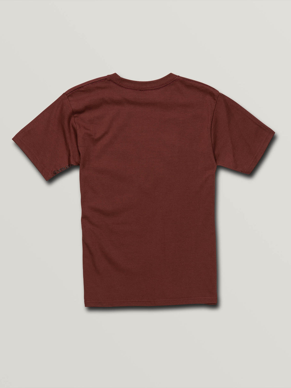 Big Boys Volcom Panic Short Sleeve Tee In Pomegranate, Back View