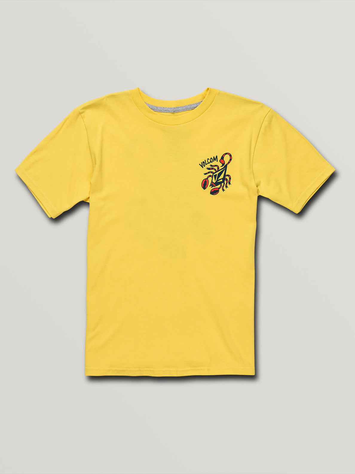 Big Boys Scorpo Short Sleeve Tee In True Yellow, Front View