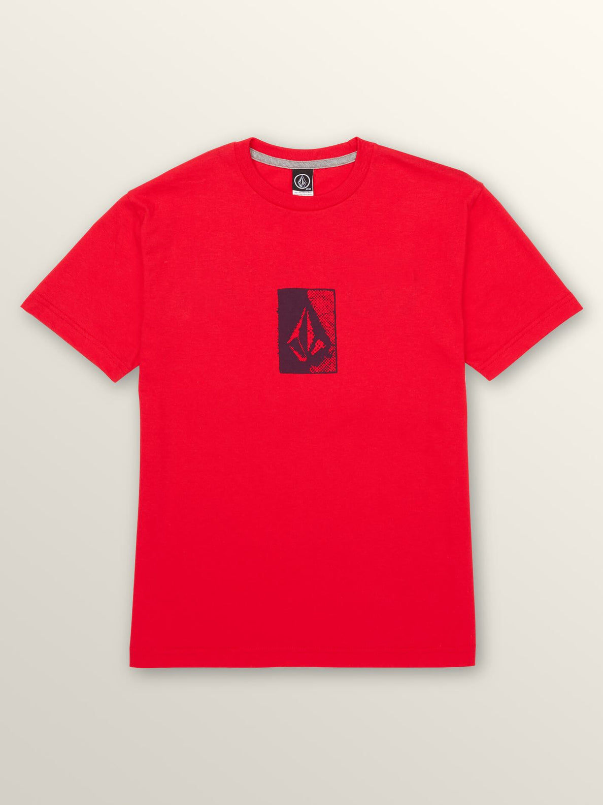 Big Boys Half Tone Short Sleeve Tee In True Red, Front View