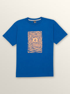 Big Boys Engulf Short Sleeve Tee In Camper Blue, Front View