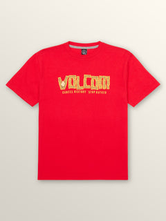 Big Boys Freedumb Short Sleeve Tee In True Red, Front View
