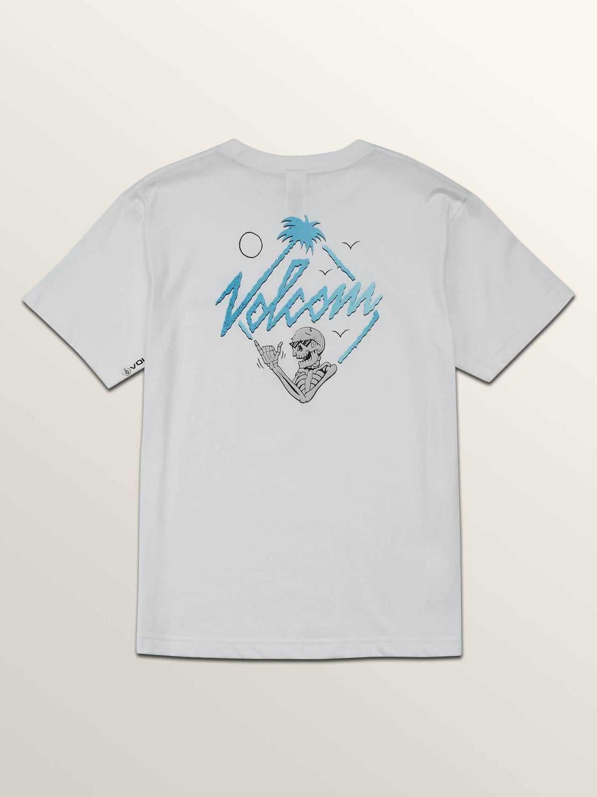 Big Boys Flexer Short Sleeve Tee In White, Back View