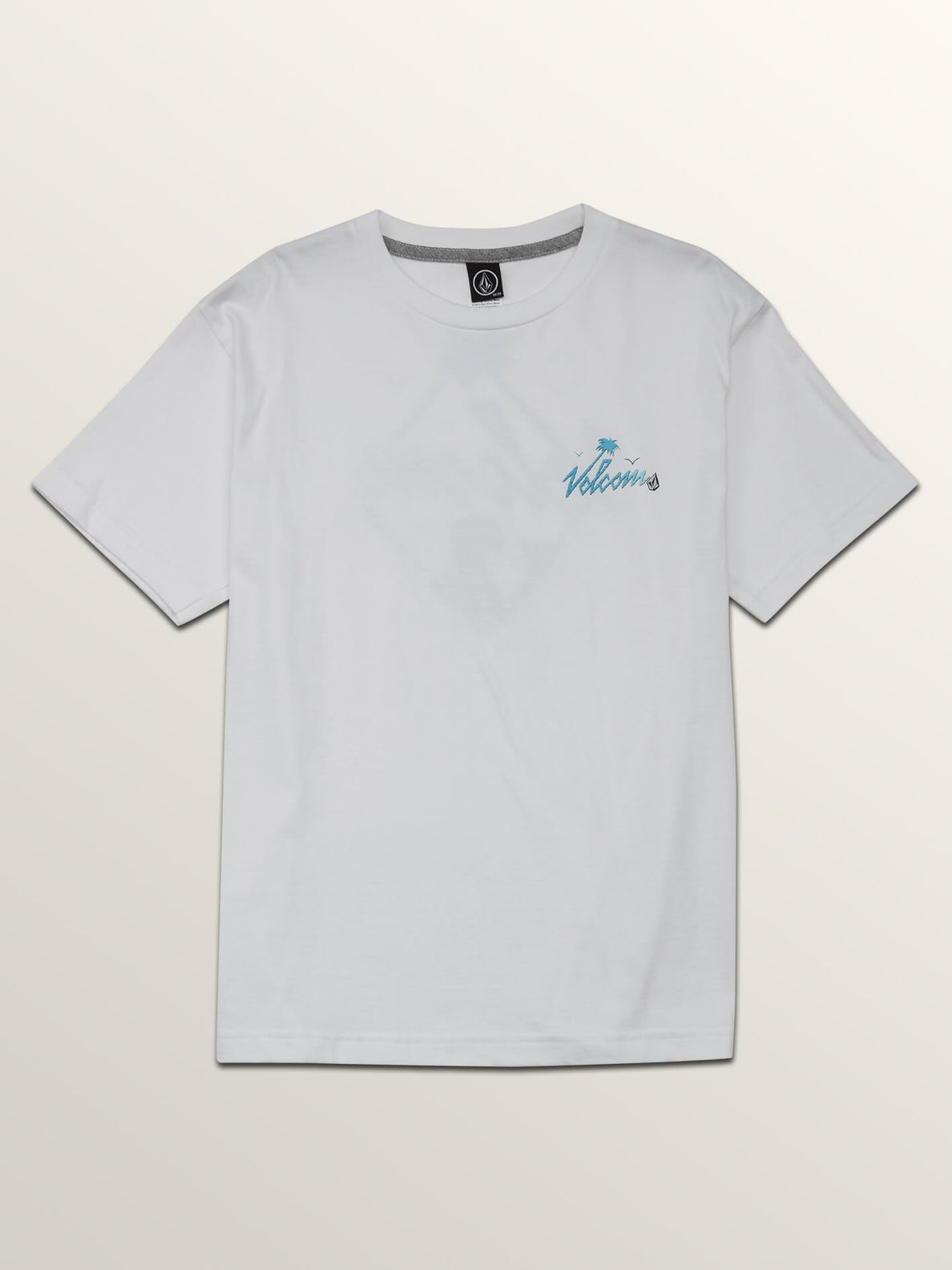 Big Boys Flexer Short Sleeve Tee In White, Front View