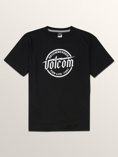 Big Boys Boltz Short Sleeve Tee In Black, Front View