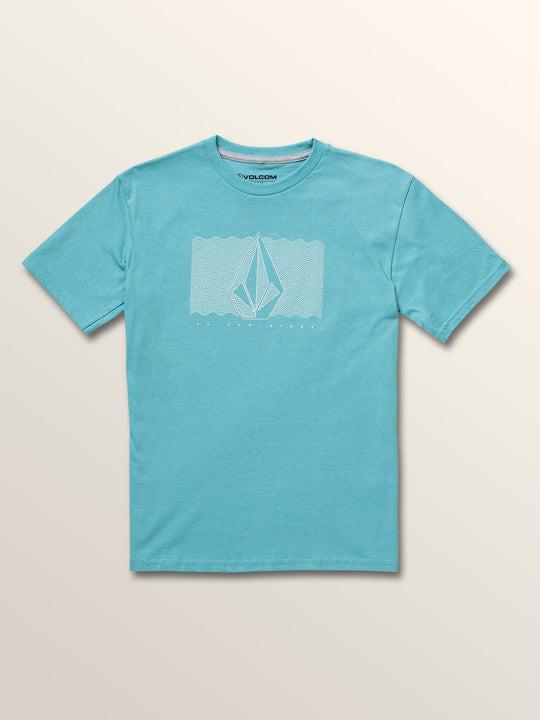 Big Boys Sound Waves Short Sleeve Tee In Blue Bird, Front View