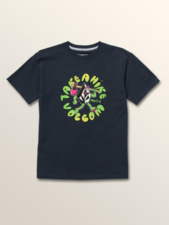 Big Boys Stone Hike Short Sleeve Tee In Navy, Front View