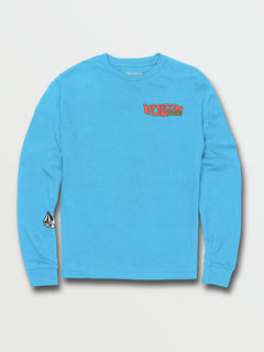 Big Boys Catback Long Sleeve Tee - Aqua (C3632031_AQU) [F]