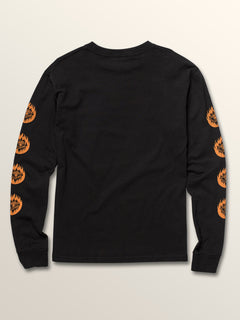 Big Boys Hot Visions Long Sleeve Tee In Black, Back View