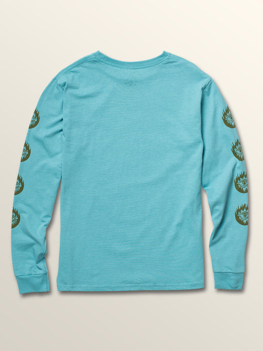 Big Boys Hot Visions Long Sleeve Tee In Blue Bird, Back View