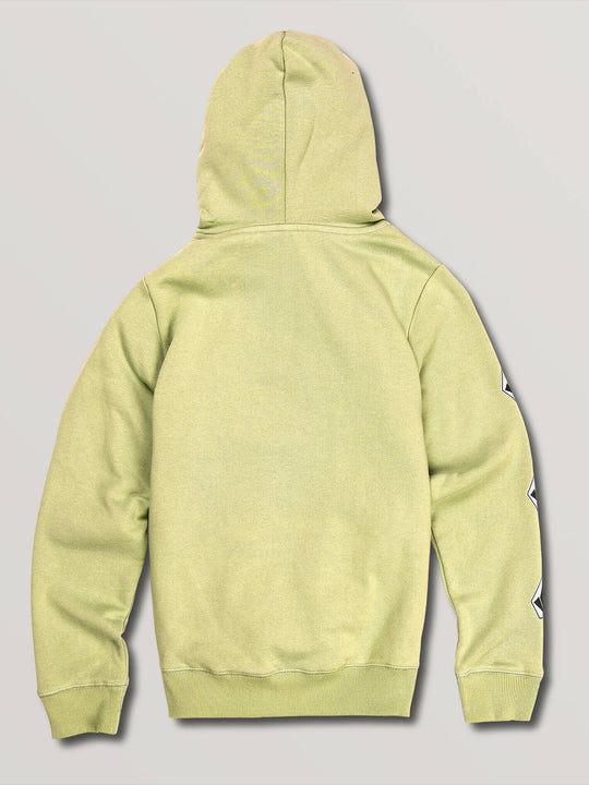 Big Boys Deadly Stones Pullover Hoodie In Lime, Back View