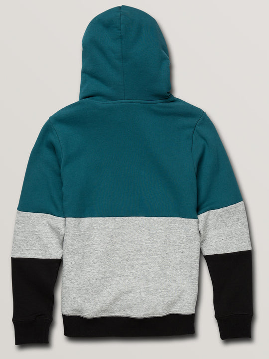 Big Boys Single Stone Division Pullover Hoodie In Teal, Back View