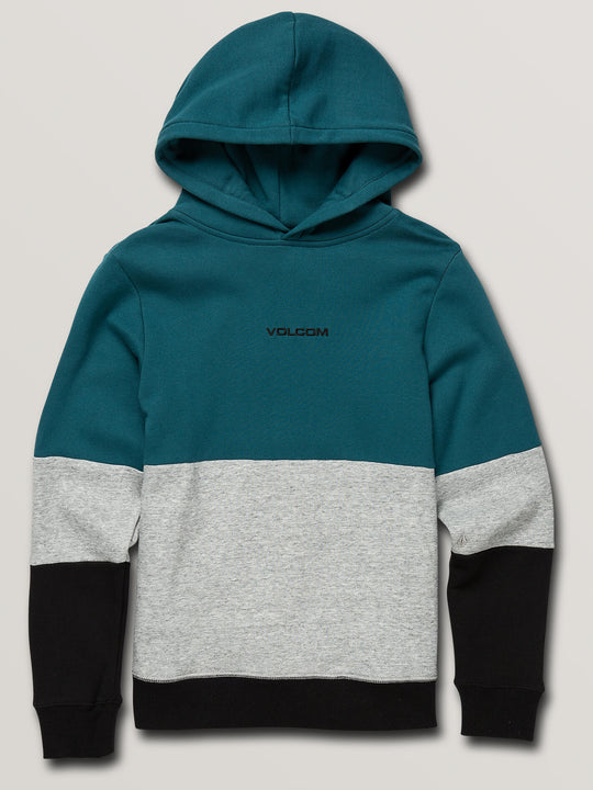 Big Boys Single Stone Division Pullover Hoodie In Teal, Front View