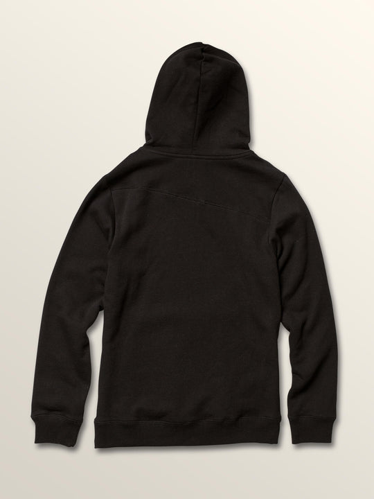 Big Boys Stone Pullover Hoodie In Black, Back View