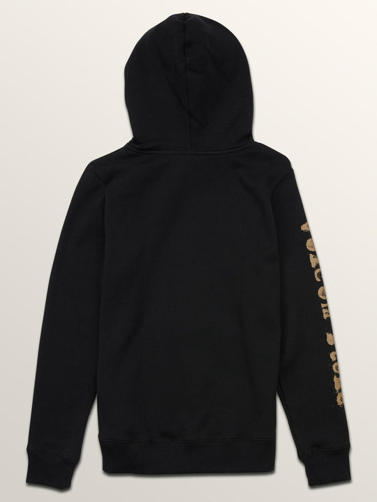 Big Boys Supply Stone Pullover Hoodie In Black, Back View