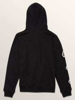 Big Boys Deadly Stones Pullover Hoodie In Black, Back View