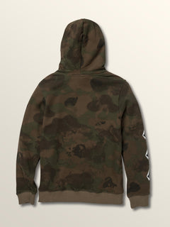 Big Boys Deadly Stones Pullover Hoodie In Camouflage, Back View