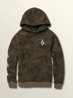 Big Boys Deadly Stones Pullover Hoodie In Camouflage, Front View