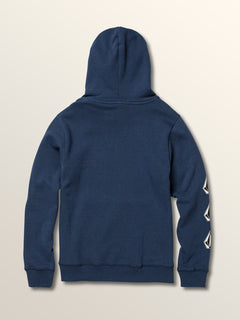 Big Boys Deadly Stones Pullover Hoodie In Matured Blue, Back View