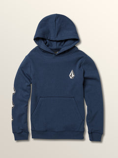 Big Boys Deadly Stones Pullover Hoodie In Matured Blue, Front View