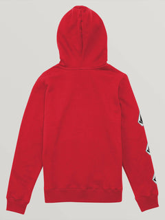 Big Boys Deadly Stones Pullover Hoodie In Spark Red, Back View