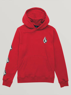 Big Boys Deadly Stones Pullover Hoodie In Spark Red, Front View