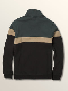 Big Boys Rainer Polo Pullover Sweatshirt In Dark Pine, Back View