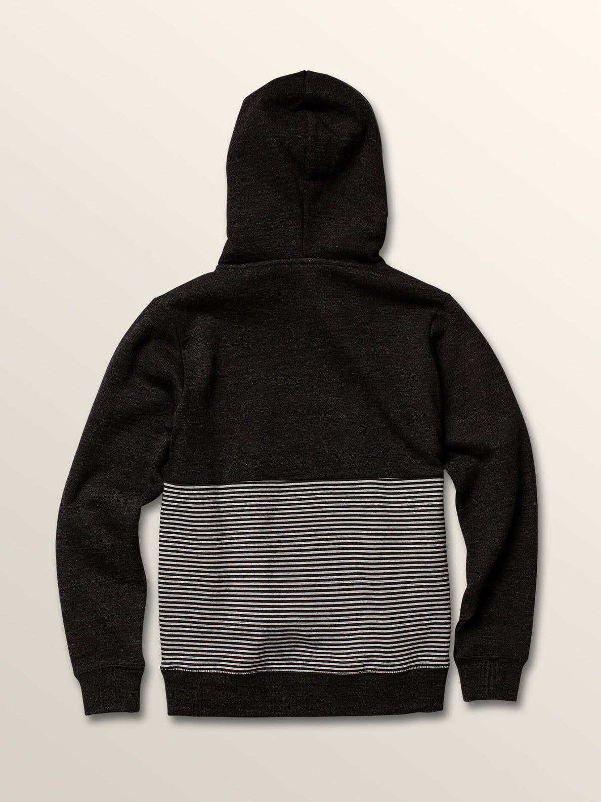 Big Boys Maddock Pullover Hoodie In Asphalt Black, Back View