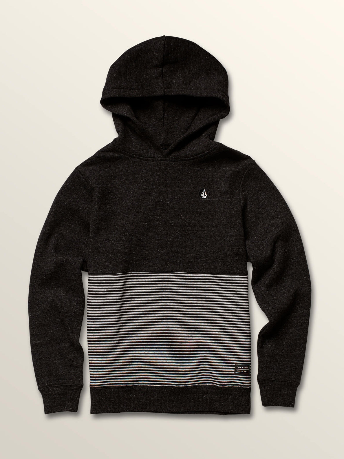 Big Boys Maddock Pullover Hoodie In Asphalt Black, Front View