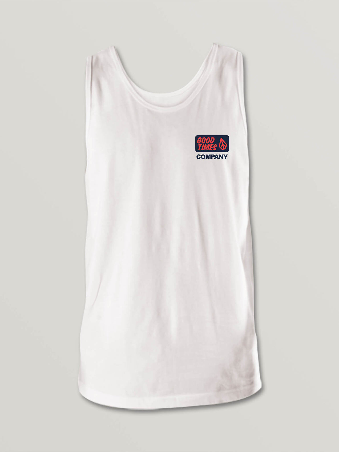 Big Boys Volcom Is Fun Tank In White, Front View