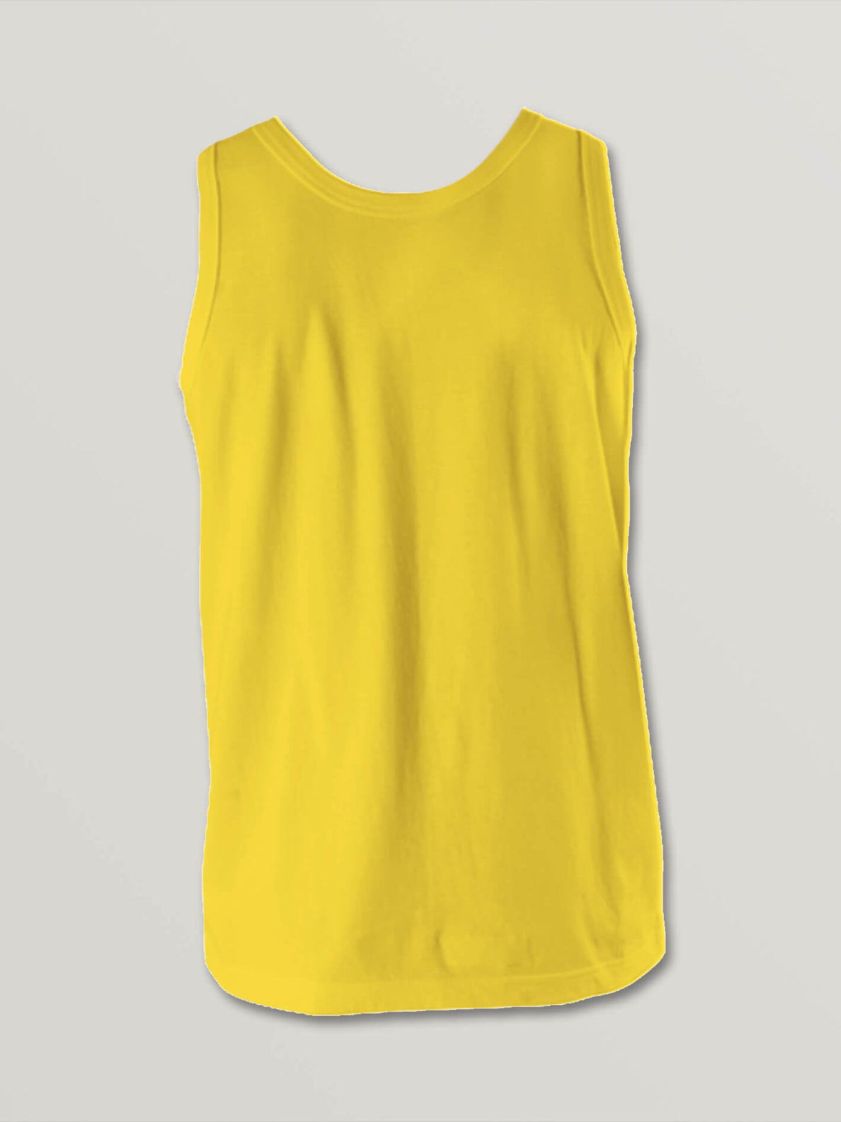 Big Boys Stone Sounds Tank In True Yellow, Back View