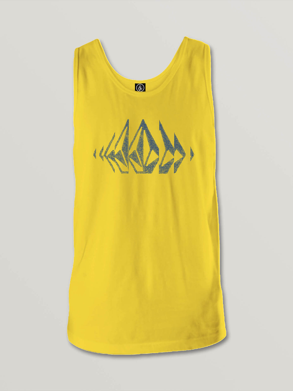 Big Boys Stone Sounds Tank In True Yellow, Front View