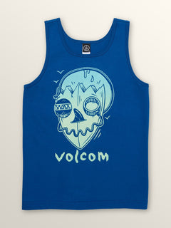 Big Boys Surf Skull Tank In Camper Blue, Front View