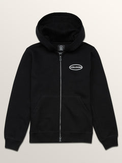 Big Boys Shop Zip Hoodie In Black, Front View