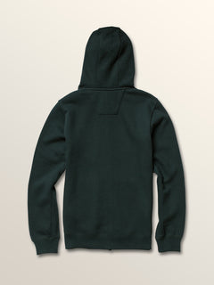 Big Boys Shop Zip Hoodie In Dark Pine, Back View