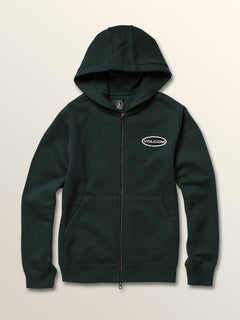 Big Boys Shop Zip Hoodie In Dark Pine, Front View