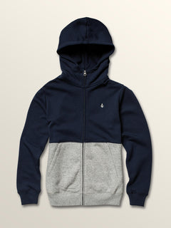 Big Boys Single Stone Colorblock Zip Hoodie
