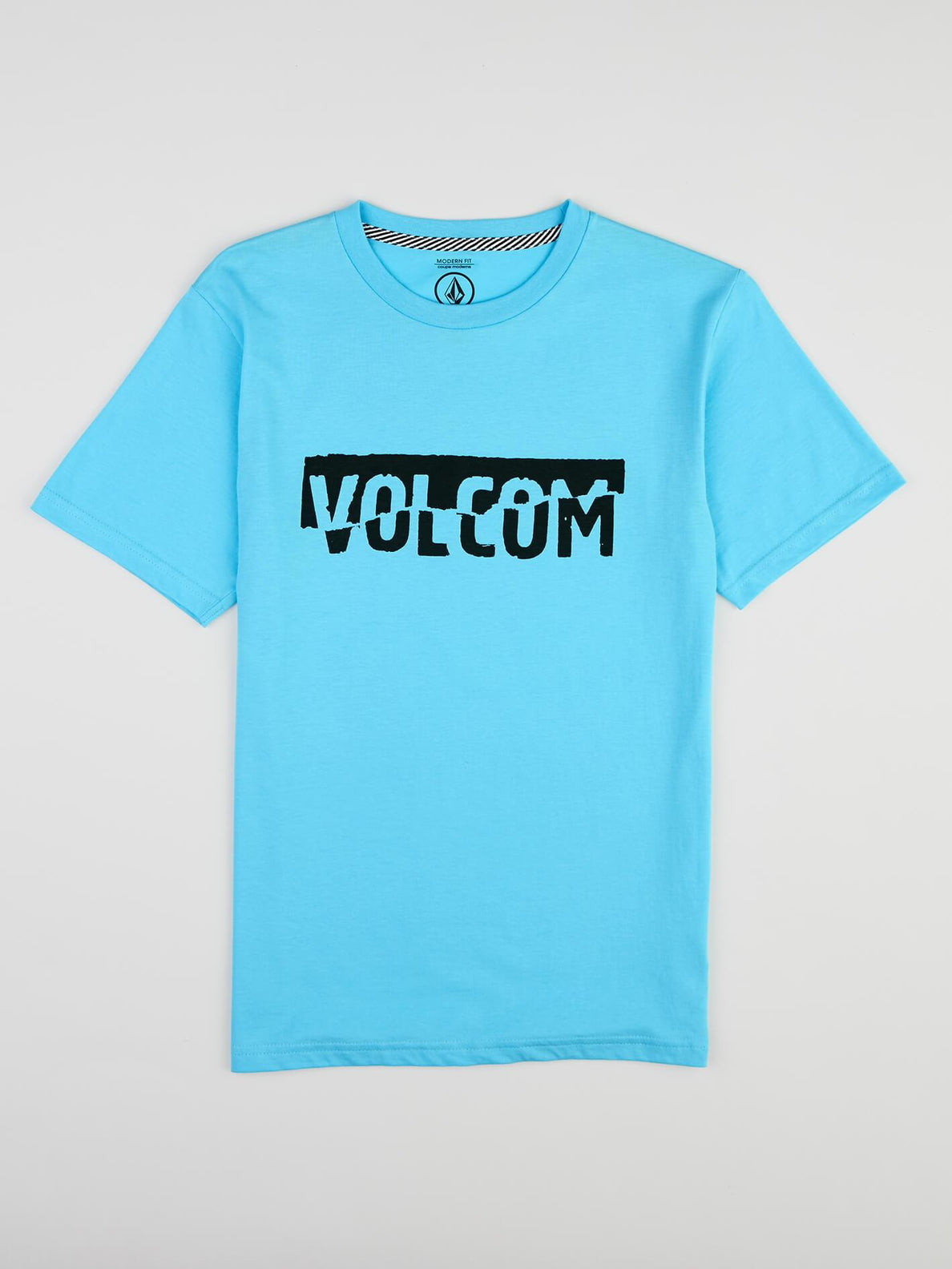 Big Boys Fracture Tee In Aqua, Front View