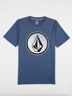 Big Boys Classic Stone Tee In Deep Blue, Front View