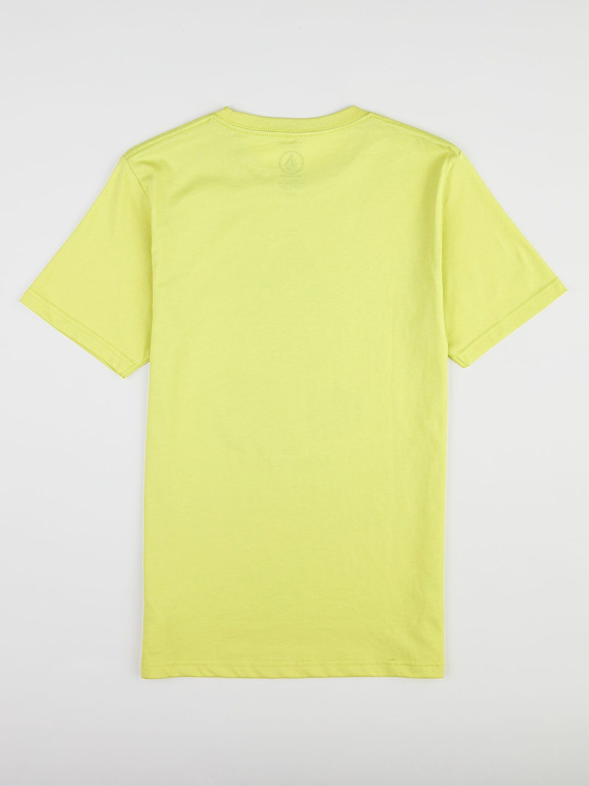 Big Boys Classic Stone Tee In Shadow Lime, Back View