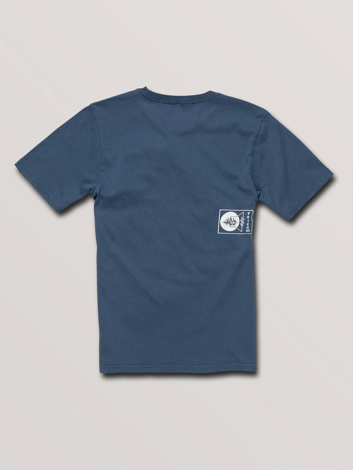 Big Boys Audio Waves Short Sleeve Tee In Indigo, Back View